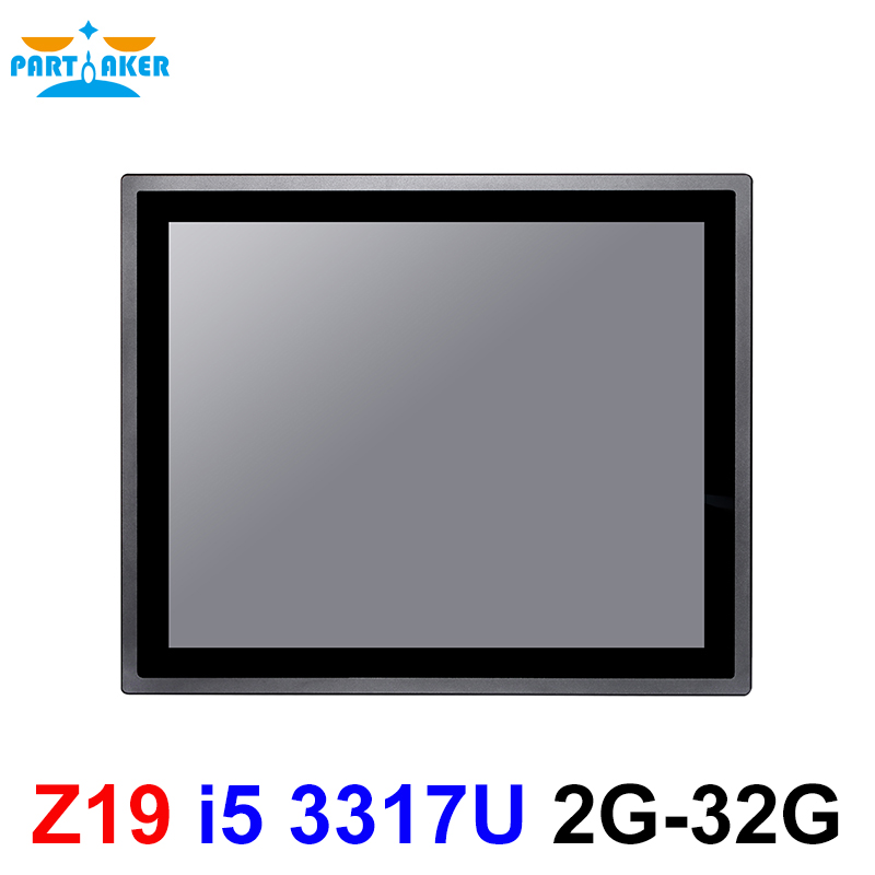17 Inch IP65 Industrial Touch Panel PC Intel Core I5 3317U All In One Computer With Windows And Linux 10 Points Capacitive TS
