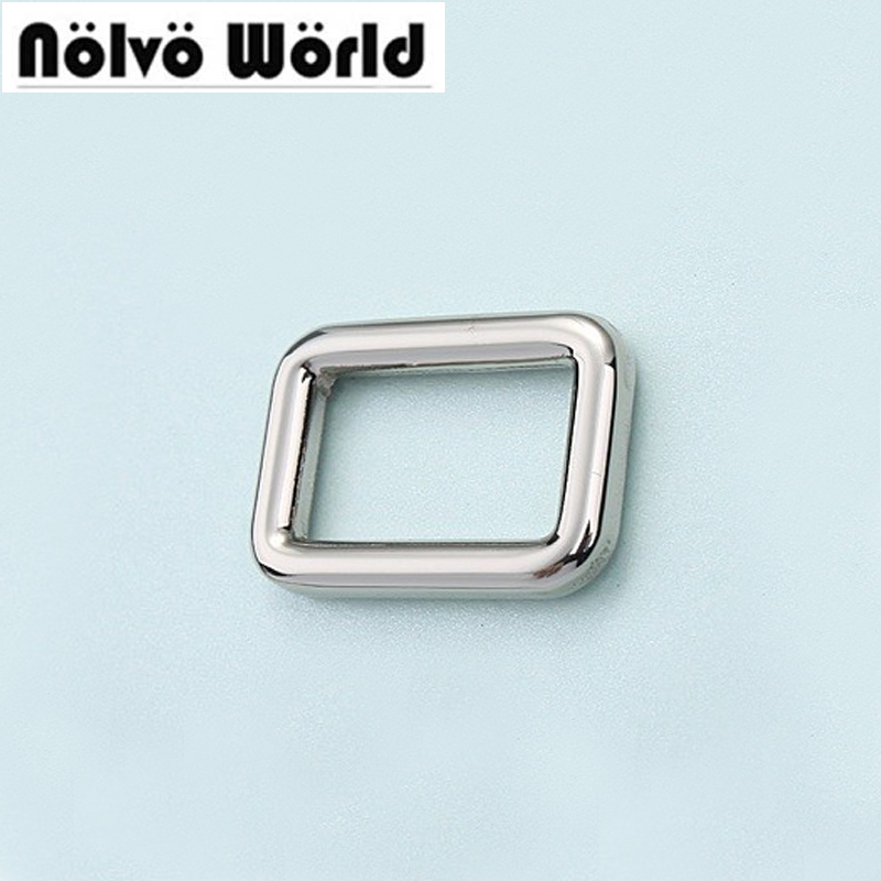 50pcs 5 Colors 20X12mm 3/4 Inch Alloy Bags Metal Accessories Square Buckles Welded Buckle For DIY Sewing