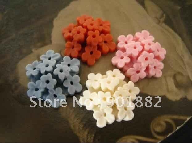 20 MM warna campuran Datar kembali resin bunga cabochons untuk perhiasan  dekorasi!! af095d03ff
