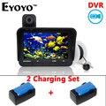 Envío gratis! Eyoyo Original 20 m buscador de los pescados DVR de grabación de vídeo 6 LED infrarrojos cámara pesca submarina + Extra conjunto de carga