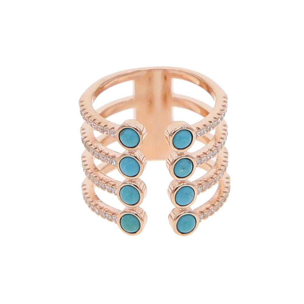 Vintage Antique Natural Stone H shape Ring Fashion Jewelry Blue turquoises Finger Ring For Women Wedding Anniversary Rings 7