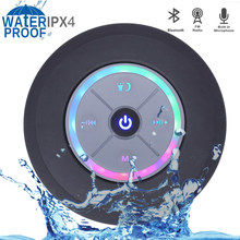 414697b266d Mini Bluetooth4.0 Speaker Portable Waterproof Wireless Handsfree Speakers  with LED Light Subwoofer For Showers Bathroom Pool Car