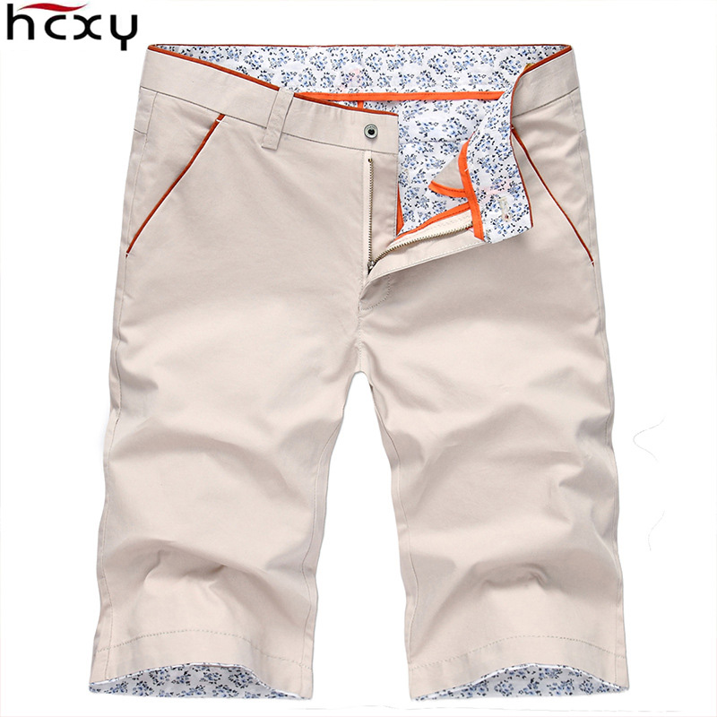 HCXY  2018 Summer Mens Shorts Fashion Casual Cotton Shorts Men Slim Bermuda Masculina Beach Shorts Male Short Pants Size 38
