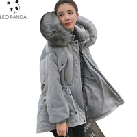 Parkas Winter Women Cotton Coat 2019 New Loose Artificial Fur Collar Hooded Outerwear Warm Female Casual Warm Outerwear LCY974