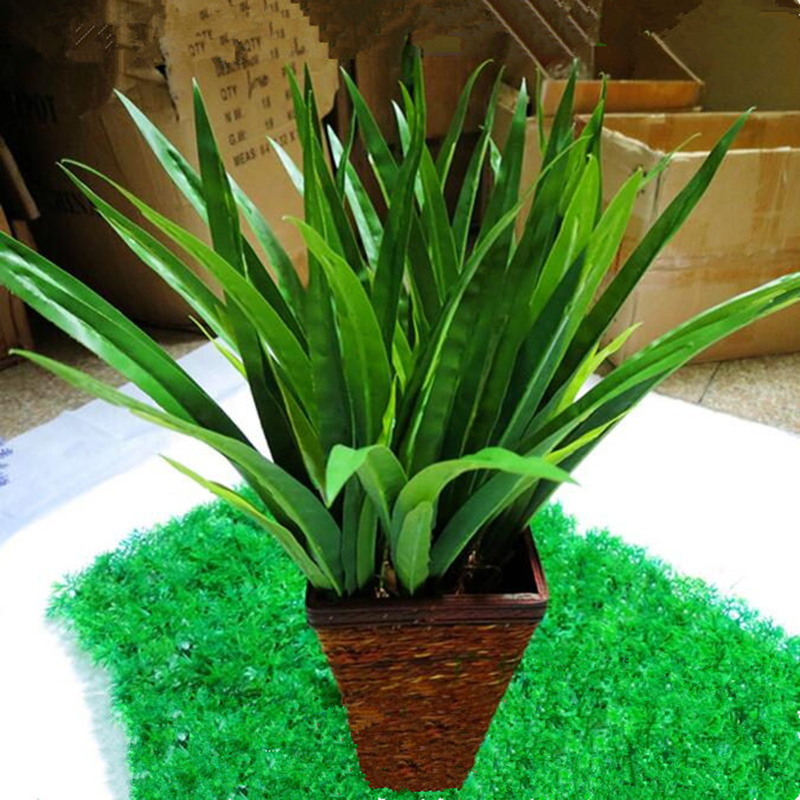 1 piece artificial orchid fake plastic green leaves flores flowers