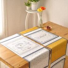 Francés de la moda toalla cubierta camino de mesa de Café gabinete lateral de entrada occidental bandera de mesa