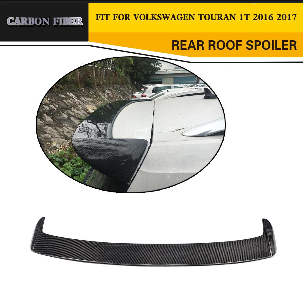 Carbon Fiber Racing Auto Roor Spoiler Wing Lip untuk VW Touran 2016
