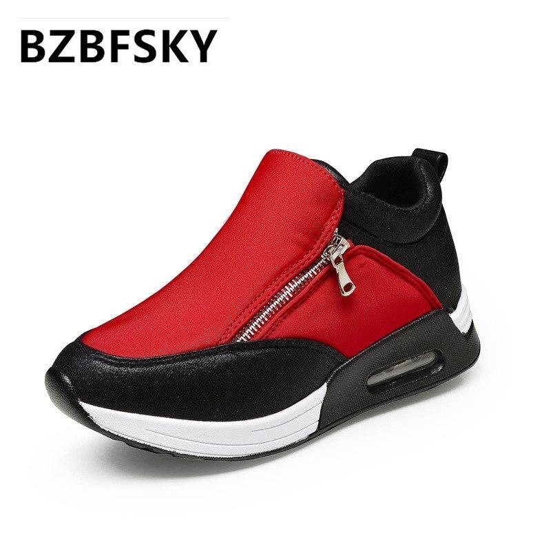 216739b27728f الأزياء الفم العميق اللون كتلة منصة الأحذية النسائية تنفس سميكة القاع النساء  عارضة أحذية السيدات الأحذية
