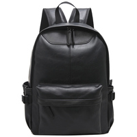 High Quality Vintage Fashion Casual PU Leather Women Men Backpack Bags For Lady Rucksack Teenagers Schoolbags