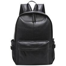 De alta Calidad de La Manera de La Vendimia Ocasional de LA PU de Cuero Mujeres Hombres Mochila Bolsas Para Dama Mochila para Adolescentes mochilas mochila portátil