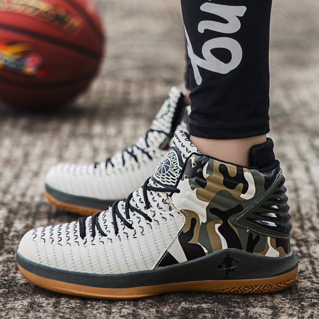 1eec9e1a30a746 Air Cushion Jordan Basketball Shoes Men Breathable Anti-slip Basketball  Sneakers Trainers Ankle Boots Man