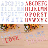 5CM Alphabet Letters DIY Metal Cutting Dies Stencil Scrapbook Card Album Embossing Craf DIY Paper Card