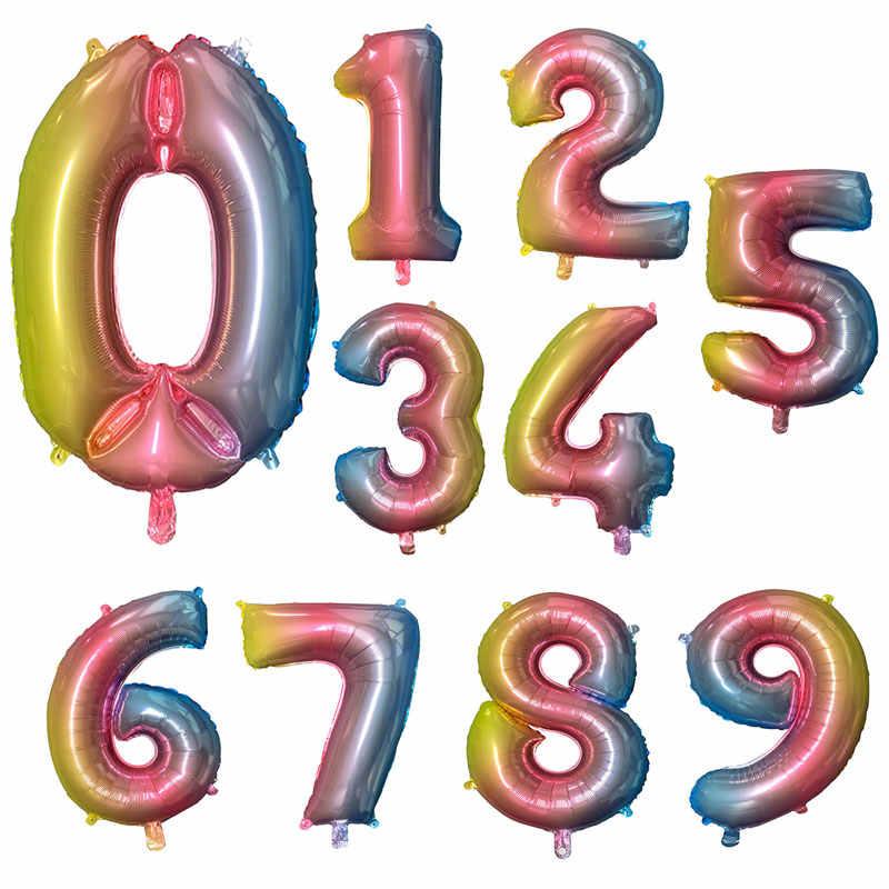 16/32/40 дюймов Новые Стразы образуют цифру «воздушные шары цифры клипсы для воздушных шаров, воздушные шары воздушные деко День рождения украшения Пижама для детей и взрослых, воздушный шар