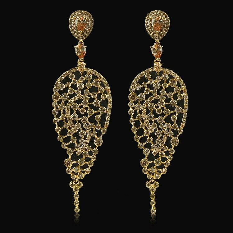 Boucles d'oreilles en or de qualité AAA pour femmes