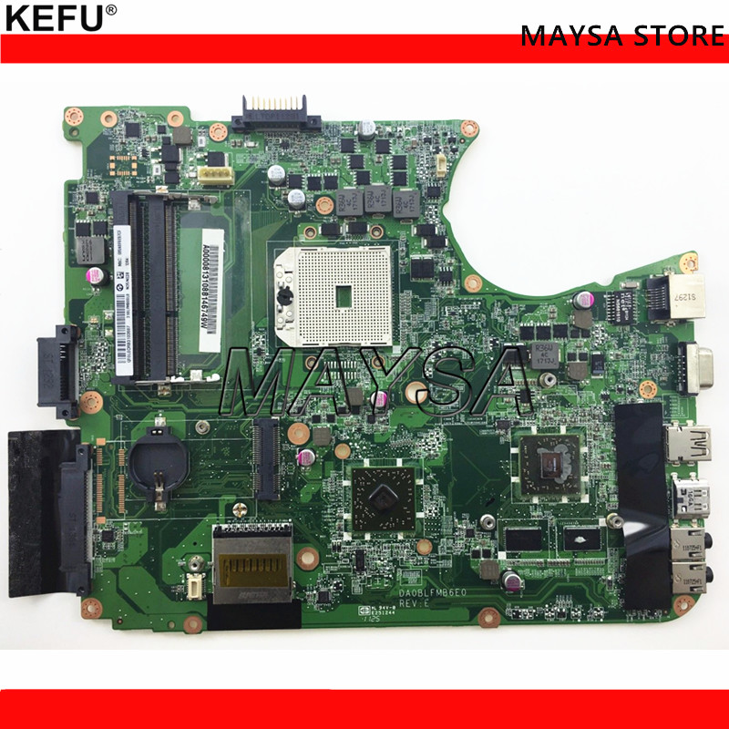 KEFU A000081310 Laptop Motherboard For toshiba satellite L750D L750 L755D DA0BLFMB6E0 DDR3 Mainboard full tested wzsm new laptop lcd cable for toshiba satellite l750 l750d l755 l755d video flex cable dd0blblc000 dd0blblc040