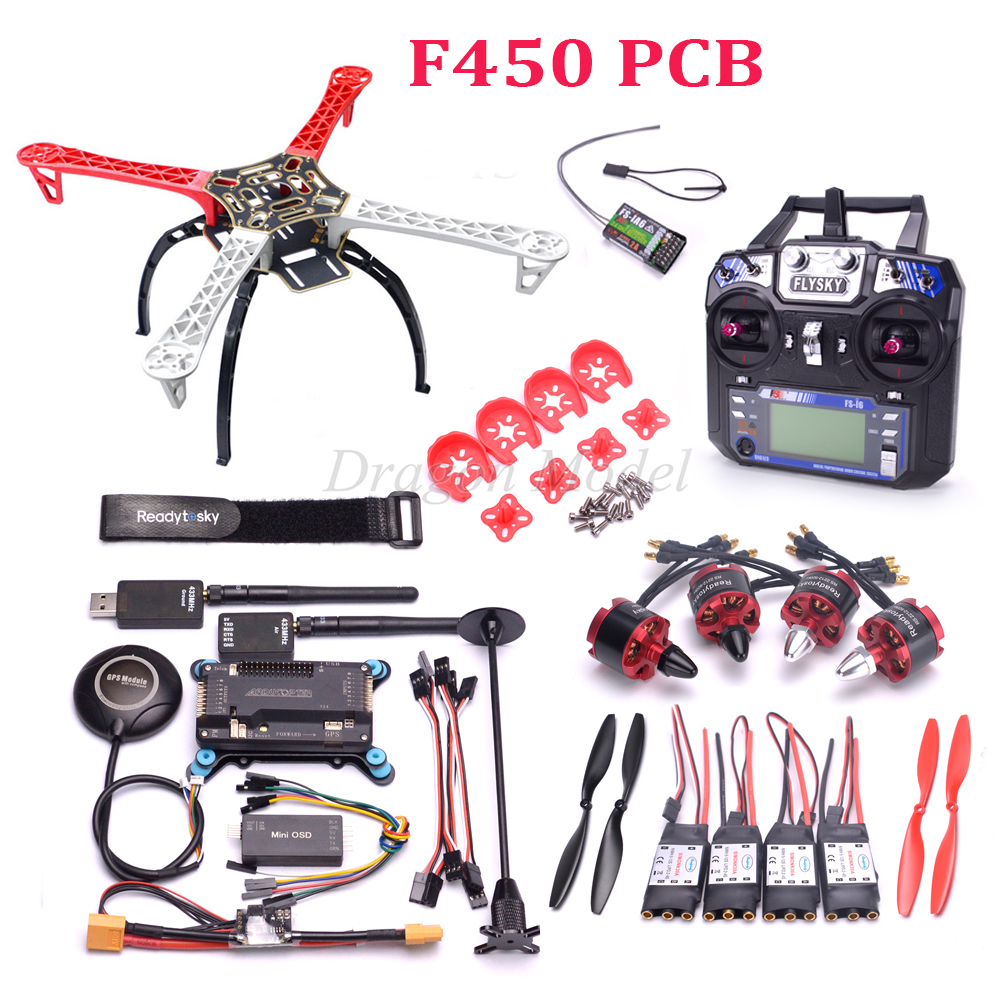 F450 PCB Quadcopter Frame Kit APM2.6 flight controller M8N GPS Power Module 2212 920kv motor 433 telemetry mini OSD drone upgraded apm2 6 mini apm pro flight controller neo 7n 7n gps power module