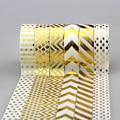 15mm * 10 m Fita Adesiva Fita Adesiva de Folha de Ouro Conjunto DIY Adesivo Decorativo Fita Washi Japonês Fita de Papel Do Scrapbook Álbum de fotos lote