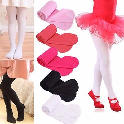 7d6521ddb43a9 2017 Girls Kids Tights Leg Pantyhose solid Hosiery Stockings Opaque Ballet  Dance size S,M,L