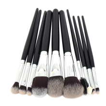 High Quality 10pcs Makeup Brushes Set Professional Artificial Goat Hair Tools Kit