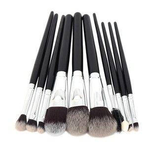 10pcs Makeup Brushes Set Powder Foundation Blush Concealer Eyeshadow Eyebrow Eyeliner Eyelash Lipgloss Beauty Tools Kit