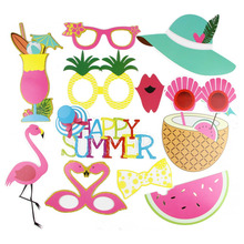 Hawaii Style Party Funny Photo Booth Props Set