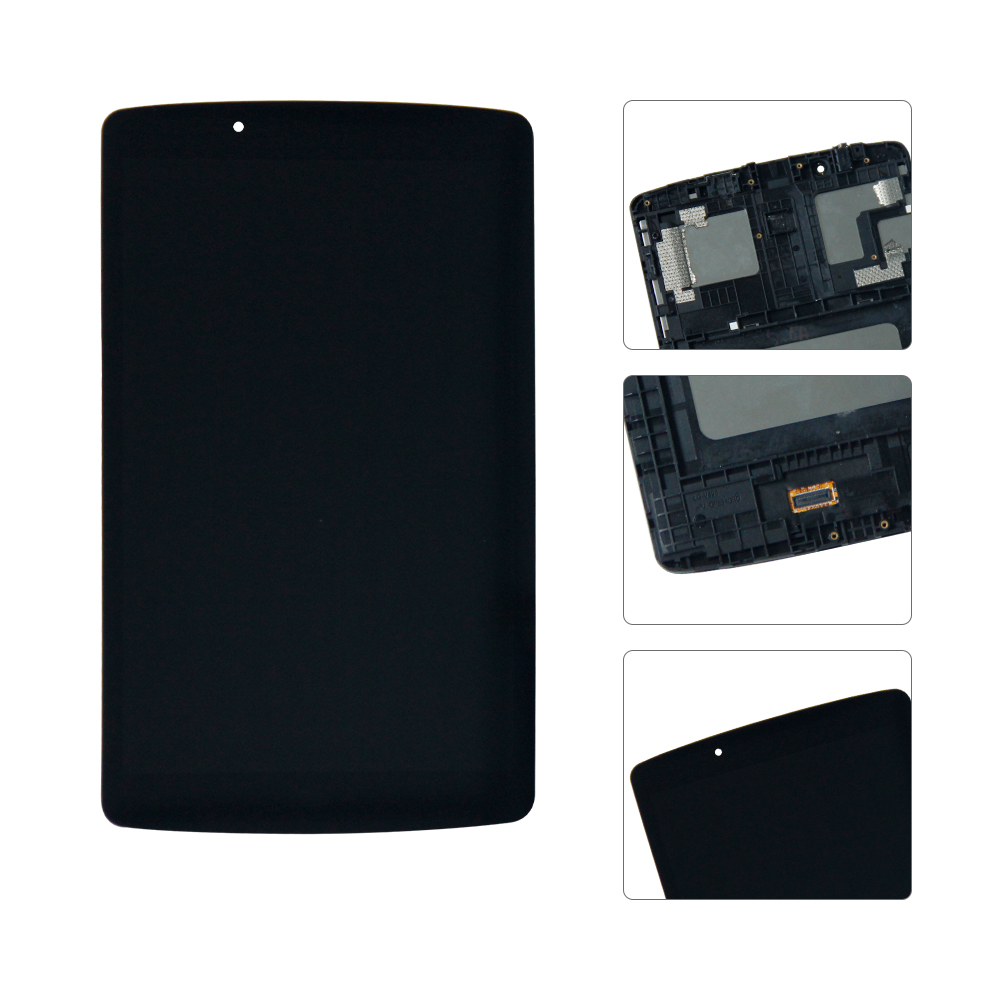 100% Test For LG G Pad F 8.0 V495 V496 LCD Display Matrix Touch Screen Digitizer Sensor Tablet Assembly with Frame Replacement srjtek 8 inch lcd for huawei tablet t1 821l lcd display digitizer sensor replacement lcd screen 100% tested