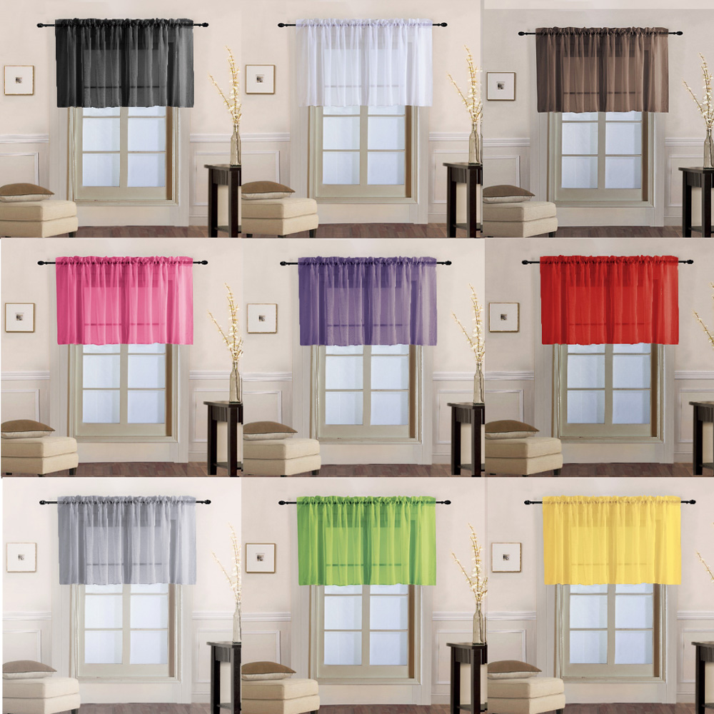 Solid Color Tulle For Kitchen Curtains For Living Room Bedroom Door Sheer Curtains Window Drapes Decor Y(China)