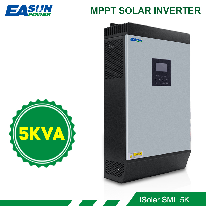 5KVA Solar Inverter 4000W 48V 230V Pure Sine Wave Hybrid Inverter Built in 80A MPPT off