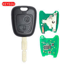 Keyecu KYDZ Remote Key FOB 2 Button 433MHz for Peugeot 406 With ID46 Chip Uncut Blade