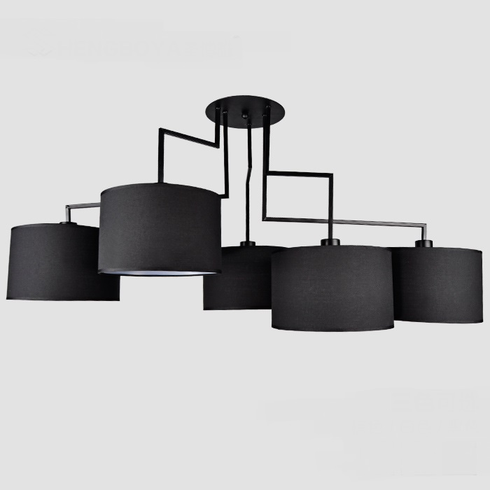 A1 Modern minimalist art Pendant Lights creative fashion atmosphere warm Nordic master bedroom round iron pendant lamps FG472