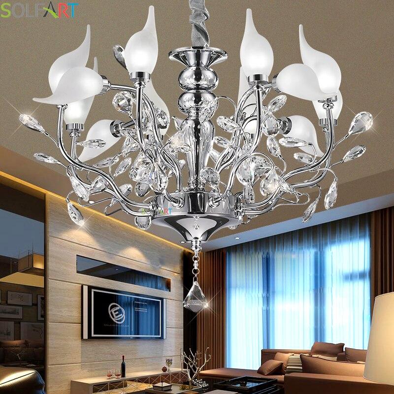 Люстры освещение железа лампы для столовой Lustre Moderne Спальня хрустальная люстра потолок