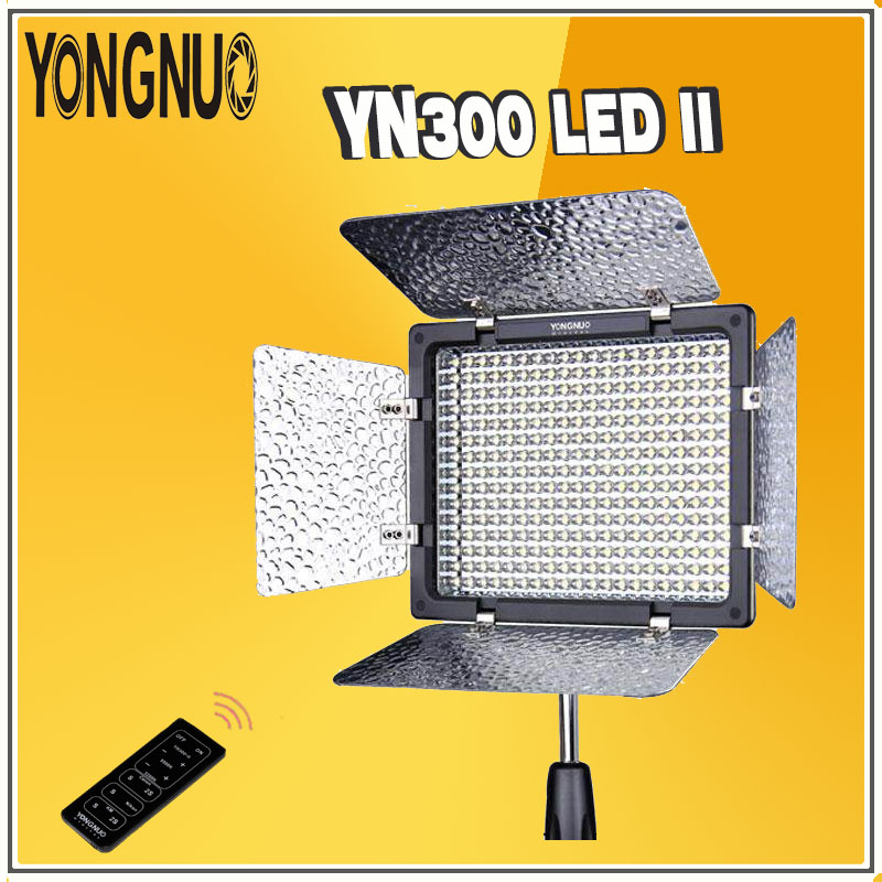 YONGNUO YN300 II YN 300 ll LED Video Photographic Light Lighting with Remote Control for Canon Nikon Olympus Camera Camcorder godox led 308y 308 leds professional led video 3300k light with remote control for canon nikon camera dv camcorder