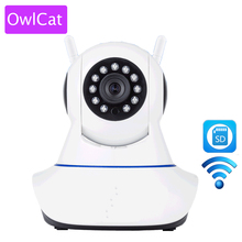 OWLCAT Home Dome IP Camera Video Surveillance Webcam SD Card Two Way Audio Talk Inrared IR Night Vision HD 720P 1.0 Megapixels