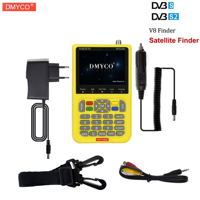 [Genuine] DMYCO V8 Finder V-71 HD DVB-S2 High Definition Satellite Finder MPEG-4 DVB S2 Satellite Meter Satfinder Full 1080P HD