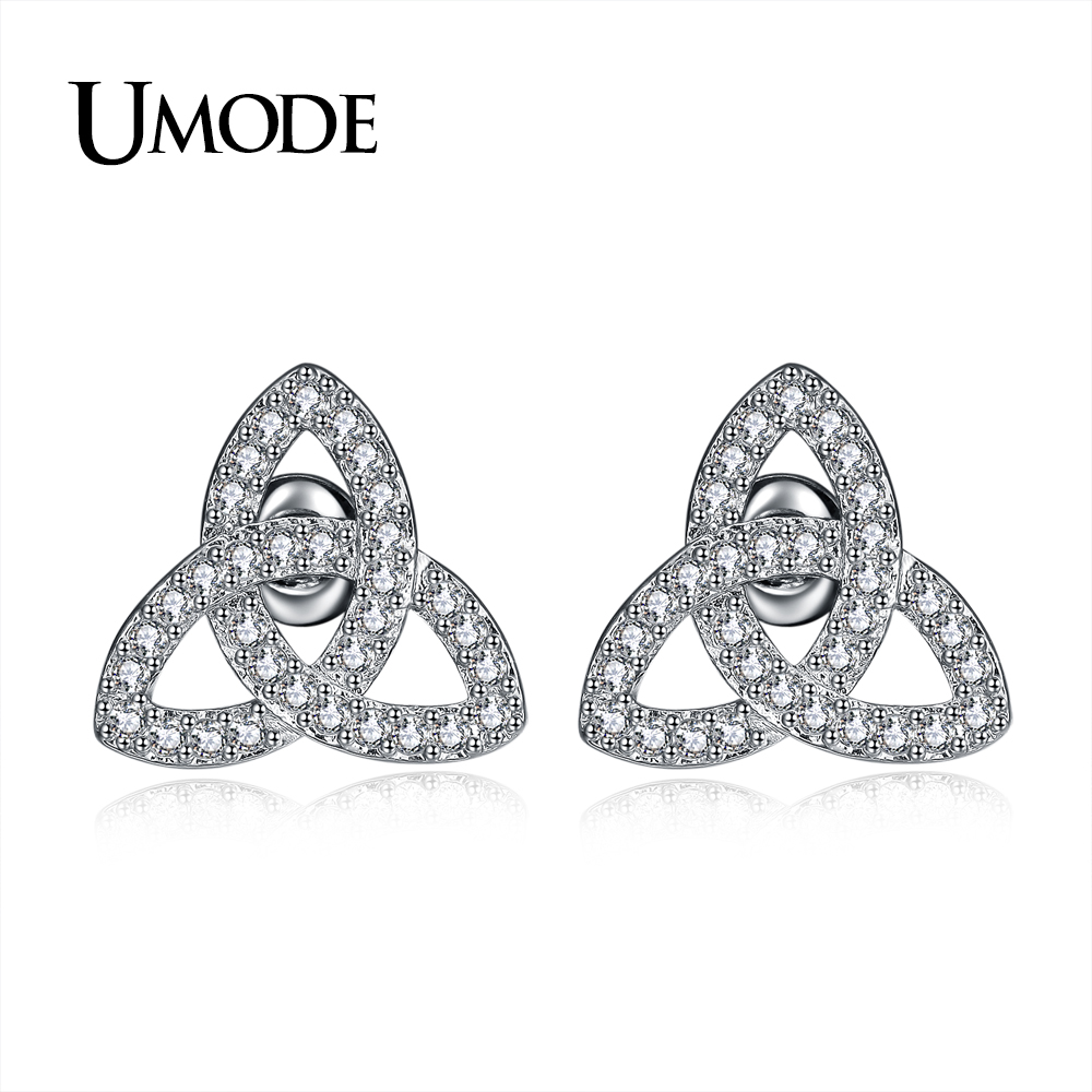 Wedding Earrings White Gold: UMODE Brand Fashion Party Wedding Jewelry Stud Earrings