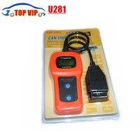 5 pcs Ferramenta de Diagnóstico U281 OBD2 CAN BUS Código Scanner U 281 OBDII Leitor de Código de Motor Car Diagnóstico Scanner de Código de Falha Do Carro leitor