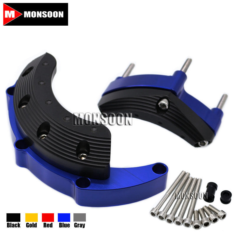 For YAMAHA MT09 FZ09 FZ-09 MT-09 Tracer 2014-2016 Motorcycle Accessories Engine Protector Guard Cover Frame Slider Blue engine bumper guard crash bars protector steel for yamaha mt09 mt 09 fz07 fz 09 2014 2016 2014 2015 2016 motorcycle