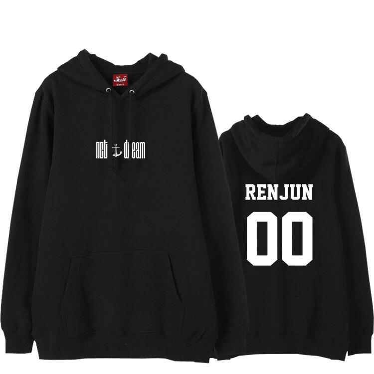 Kpop nct dearm nuovo album abbiamo giovane membro nome stampa hoodies del panno morbido per gli appassionati di autunno inverno pullover unisex felpa
