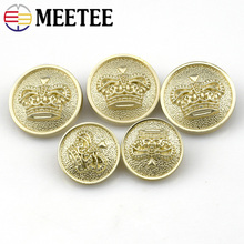 10pcs Free Shipping High-grade Women Buttons  Matt Gold Metal Coat Fashion 18mm 22mm