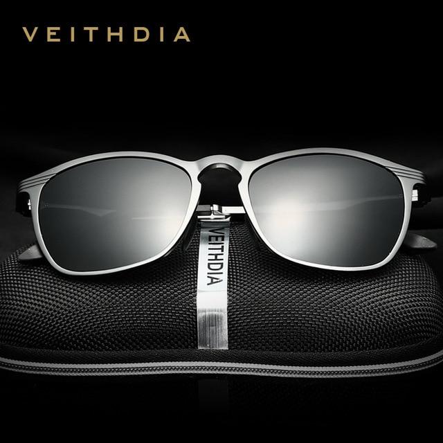 VEITHDIA Unisex Retro Aluminium Magnesium Brand Zonnebril Gepolariseerde Lens Vintage Eyewear Accessoires Zonnebril Mannen/Vrouwen 6630