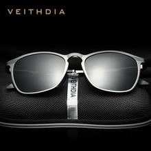 VEITHDIA Unisex Retro Aluminium Magnesium Marke Sonnenbrille Polarisierte Objektiv Vintage Brillen Zubehör Sonnenbrille Männer/Frauen 6630