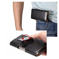 Universal Flip PU Leather Belt Buckle Clip Holster Case Cover For Motorola MOTO DROID RAZR M