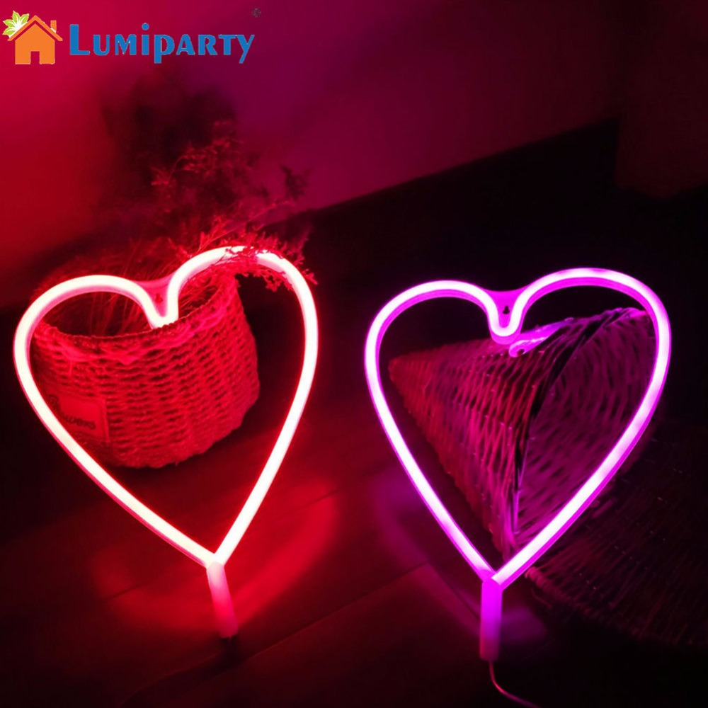 Lumiparty waterproof heart shape led wall light wall - Lights to hang on wall ...