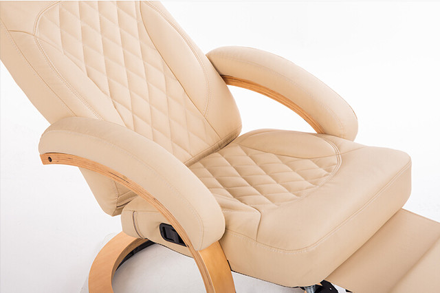 Moderne Leder Liege Stuhl 360 Grad Swivel Wohnzimmer Möbel Liege Sessel  Klapp Faul Stuhl Liege Holz Basis