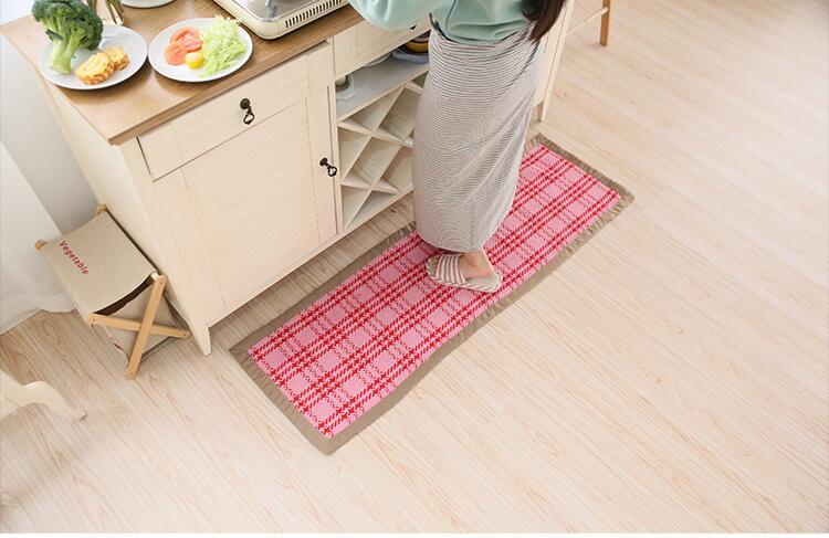 Baumwolle Teppich Wohnzimmer Esszimmer Schlafzimmer Teppiche Rutschfeste Fussmatten Waschbar Badezimmerteppich Yoga Mat Tischset HeimtextilienChina