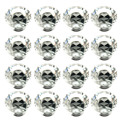 16Pcs 40mm Crystal Glass Rhinestone Shape Cabinet Knob Drawer Pull Handle Kitchen   Sale --M25
