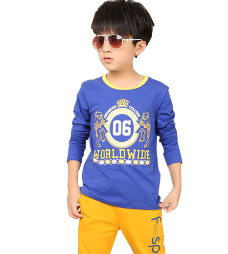 kids 2017 new spring 100% cotton children t-shirt Long sleeve boys clothes 3 4 5 6 7 8 9 10 11 12 years old