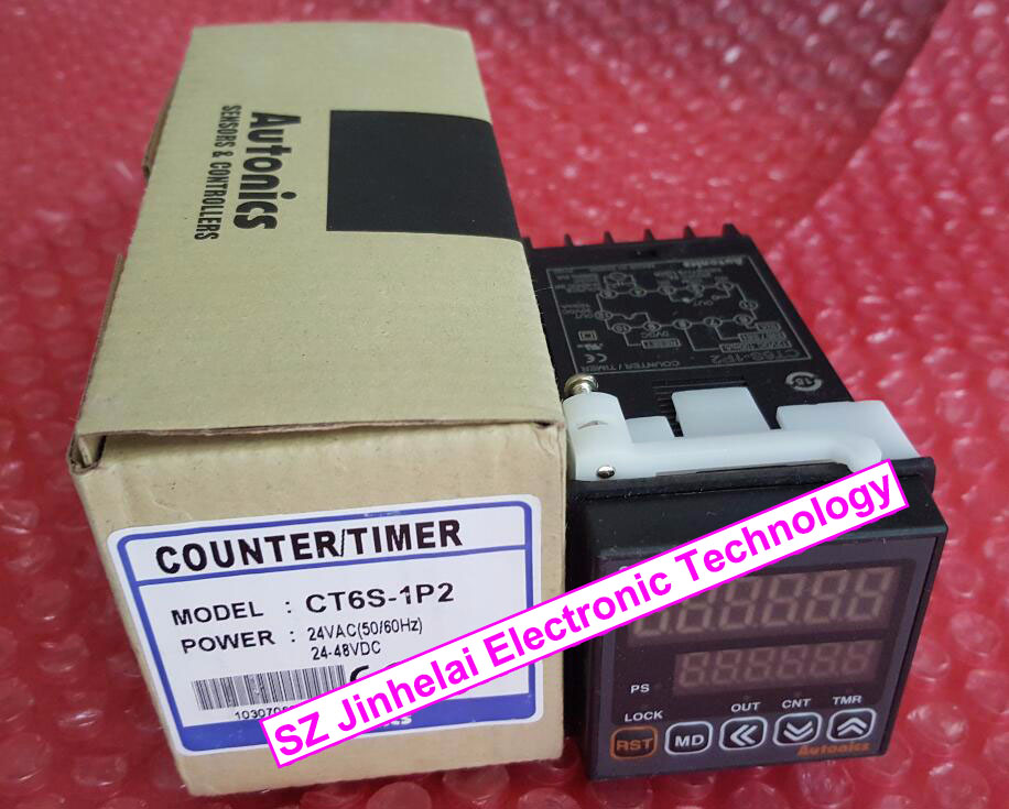 CT6S-1P2 New and original AUTONICS Timer relay,Counter/Timer 24VAC 24-48VDC цены
