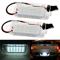 2Pcs Car LED License Plate Light 12V Car Styling T10 Number Plate Lamp Bulb Kit Free