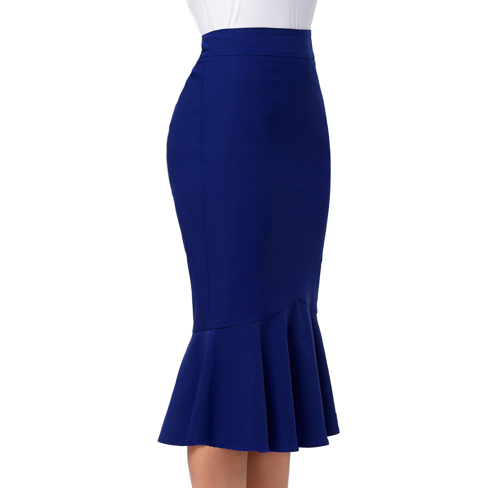 2b08f575624 Kate Kasin OL Office Skirts Womens Bodycon Midi Skirt Elegant Ruffles  Pencil Mermaid Skirts Party Formal Occasion Jupe-in Skirts from Women s  Clothing on ...